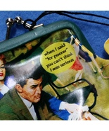 "Taintor With a Twist vintage-style coin purse by Anne Taintor, ""for poor... - $12.99"
