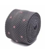 Frederick Thomas grigio e rosa a pois, da uomo maglia cravatta ft3298 - $24.43