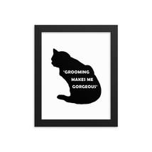 Cat Black Silhouette Framed Print, Pet Silhouette, Pet Portrait, Cat Wal... - $59.99