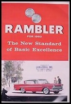 1960 Rambler Brochure, Ambassador American HUGE 60 - $13.29
