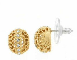 Vera Wang - SImply Vera Stud Ear Rings - Gold Filagree Button - $14.25