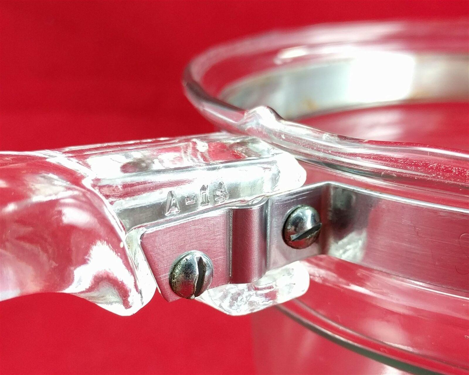 Pyrex Flameware 6283U 1½ qt Vintage Glass Saucepan w/ Stainless Steel Band image 7