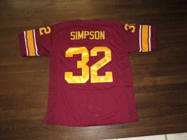 OJ SIMPSON USC TROJANS BUFFALO BILLS HOF SIGNED AUTO USC FOOTBALL JERSEY... - $346.49