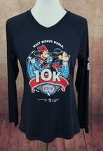 Walt Disney World Women's 10K Champion 2018 Long Sleeve V-Neck Running Shirt  M - $18.65