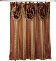 Popular Bath Contempo Spice 70 x 72 Fabric Bathroom Shower Curtain w/ Va... - $28.79