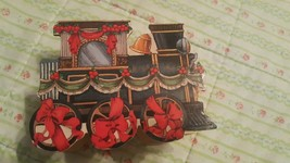 Christmas Ornament Wooden Box Train - $7.91