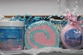 Bath And Body Set / Bath Bomb / Bubble Bar / Whipped Body Soap - $14.50