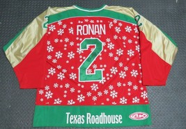 2000-01 Dan Ronan Fort Wayne Komets Game Used Worn Christmas Hockey Jers... - $467.49