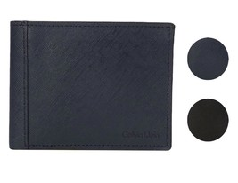 Calvin Klein CK Men's Classic Leather ID Card Passcase Wallet 7967096 image 1