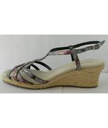 Easy Street Sandals Strappy Multi Color Open Toe Jute Rope Heel Sz 11M - $17.33