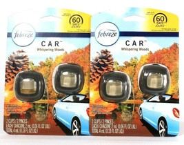 2 Packages Febreze Car Whispering Woods 2 Count Air Freshener Vent Clips - $25.99