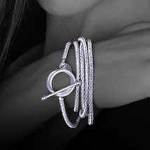 Bracelet in 925 Sterling Silver Laminated Gold or Rhodium Multiturn by Mary Jane image 1