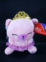 Russ Berrie Pink Fairy Angel Bear Plush Pink Purple Crown Wings Fairina ... - $14.84