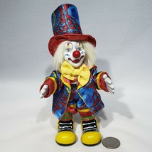 VTG Smiling Clown Doll Porcelain Head Hands Feet Poseable Wire Legs Arms... - $15.95