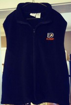 Philadelphia Flyers Black Casual (XL) Full Zip Sleeveless Polyester Dres... - $22.74
