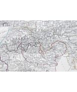 CENTRAL EUROPE N. Italy Switzerland S. Germany etc - 1848 Fine Quality Map - $12.82