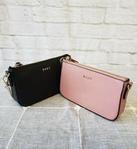 NWT DKNY Saffiano Leather Mini Crossbody Bag Black Nude Pink Chain Gold ... - $95.00