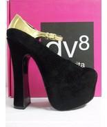 DV8 Dolce Vita Size 7.5 M Vanna Black Suede Platforms New Womens Shoes H... - $73.82