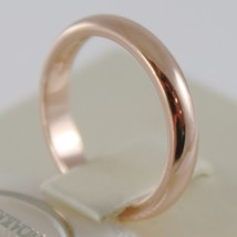 SOLID 18K ROSE GOLD WEDDING BAND UNOAERRE RING 5 GRAMS MARRIAGE MADE IN ITALY image 2