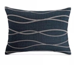 1 Hotel Collection Modern Wave Standard Pillow Sham New Blue - $35.99