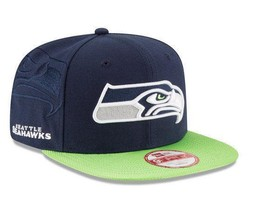 New Era Seattle Seahawks 9FIFTY Tricked Trim Snapback Cap - $21.78