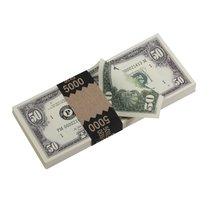 PROP MOVIE MONEY - 1980 Series $50 Full Print Prop Money Stack - $14.00