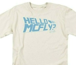 Back To Future Logo T-shirt McFly Delorean 1980s movie retro cotton tee UNI366 image 2