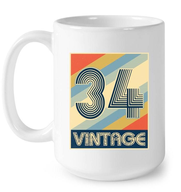 Vintage 34 84th Birthday Gift Coffee Mug