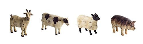 Farm Animal Collection of Sheep Pig Cow and Goat Vintage Look