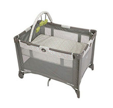 Pack N Play Playpen Baby Portable Crib Bassinet Playard Gray Folding Tra... - $119.89