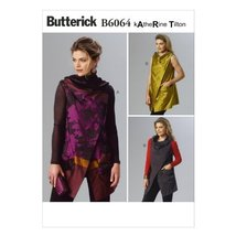Butterick Patterns B6064 Misses' Vest Sewing Template, Size ZZ (LRG-XLG-... - $11.76