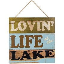 Lovin' Life At The Lake 16 x 16 Cabin Lodge Wall Sign Plaque - €16,67 EUR
