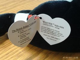 1st Edition Ty Beanie Babies Waves image 3
