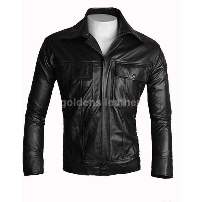 New Men's Stylish Lambskin Genuine Leather Motorcycle Biker Slim Fit Jacket GN20
