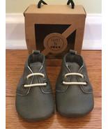 Sweet N Swag Moxford Moccasins Size 2 baby infant gray vegan leather NIB... - $14.82