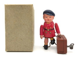Alps Shoji  Made in occupied japan  1940s A boy traveling Toy Used Rare B41 - $1,008.20