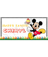Mickey Mouse Easter Basket Sticker, Waterproof and Personalized - $3.25+