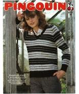 Pingouin V-Neck Raglan Sweater Knit Pattern 8121 Misses Womens Sz 32 34 ... - $4.99