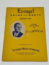 Evangel Solos and Duets Number One by Kenneth H Wells Sheet Music Book - $6.64