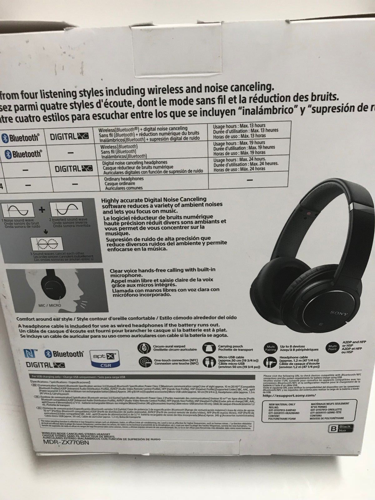 Sony Mdr Zx770bn Wireless Noise Cancelling And 18 Similar Items