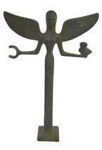 Nike bronze sculpture Victory holding wreath and Owl statue - $89.00