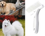 White Rake Comb for Dogs Short Long Hair Fur Shedding Remove Cat Dog Grooming