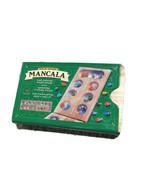 MANCALA OAK FINISH WOOD BOARD GAME FAMILY KID FUN Marbles instructions i... - $18.76