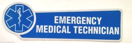 Emergency Medical Technician Blue Reflective Vinyl Decal With Star Of Life - $1.98