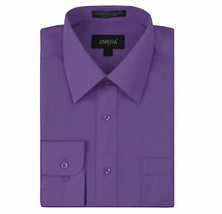 Omega Italy Men's Purple Dress Shirt Long Sleeve Slim Fit w/ Defect - 4XL image 1