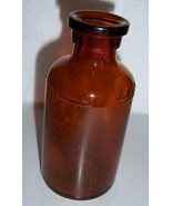 """Vintage LYSOL Glass Bottle Container BROWN 4"""" w Raised Lettering - $22.77"""