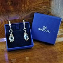 SWAROVSKI Sterling 925 Briolette Champagne Crystal Dangle Earrings  - $150.00
