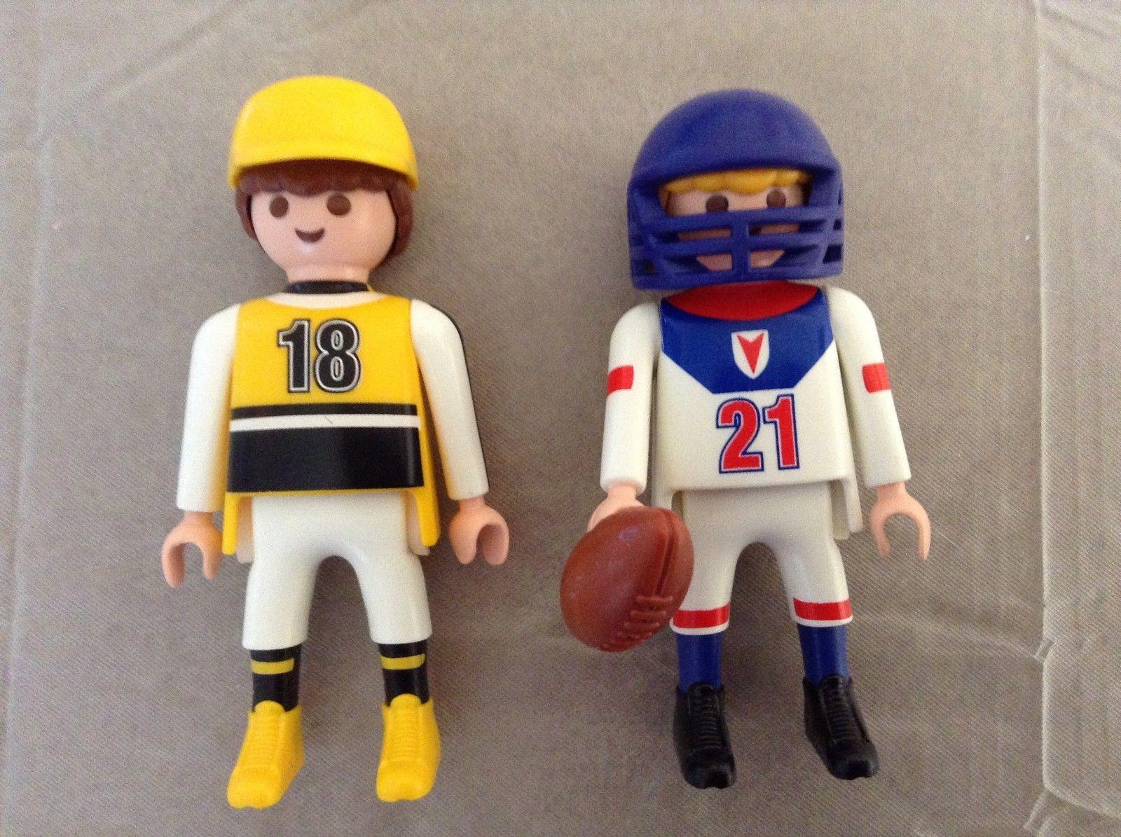 Playmobil Sports Athletes Hockey Baseball Football (5993) Missing One Football