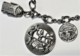 Vintage World's Fair 1964-65 Sterling Silver Charm Bracelet w/ 12 Charms - $185.00