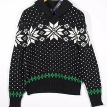 Polo Ralph Lauren Mens Snowflake Fair Isle Sweater Size Large Black - $140.00